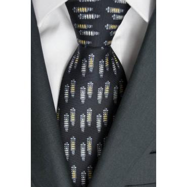 Cravatta Piccoli Disegni Ammortizzatori Lamborghini - Nero, Rosso, Giallo, Verde - 100% Pura Seta