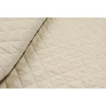 Couvre-lit matelassé Unique-Blanc Naturel Coton Lin 180x270 - rembourrage à améliorer 1 Place
