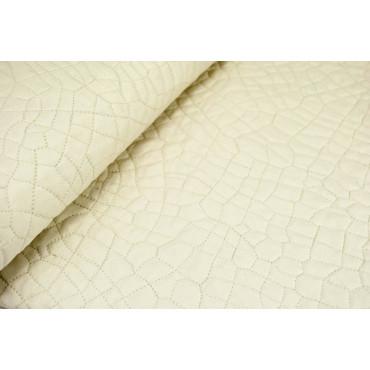 Couette couvre-lit Matelassé Carré Ivoire Tintaunita Pur Coton 170x260 - Boutis rembourrage pour améliorer l'Été