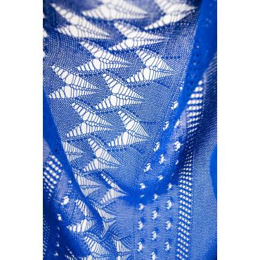 Spolverino Maglia Donna Ampio Lungo M Blu Cobalto - Cotone e Seta - Primavera Estate