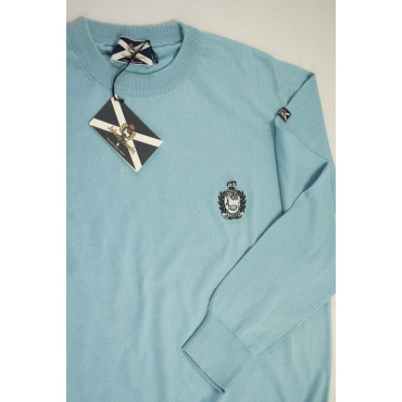 JOHNNY LAMBS Pullover Estivo Girocollo M 48 Celeste - Cotone