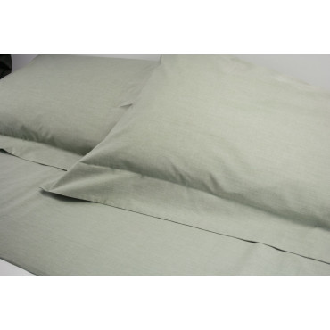 Lenzuola Matrimoniale Standard Percalle Verde Bosco Filafil 240x290 Sotto Angoli 165 7302