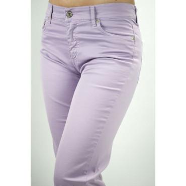 COTTON BELT Pantaloni Donna Viola Lillà 44 30 5Tasche Puro Cotone