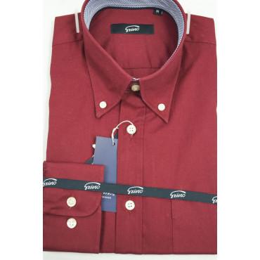 Camicia Uomo taglia XL ButtonDown Blu Scuro Tintaunita - colletto a righe celeste