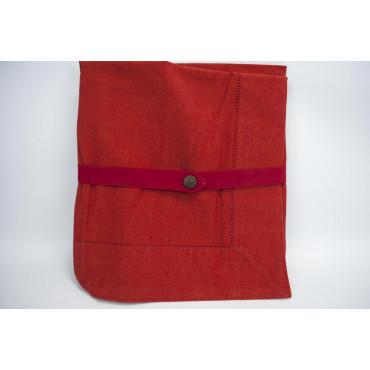 Tovaglia Rettangolare x8 Rosso 140x240 rif. Orlo a Giorno senza tovaglioli