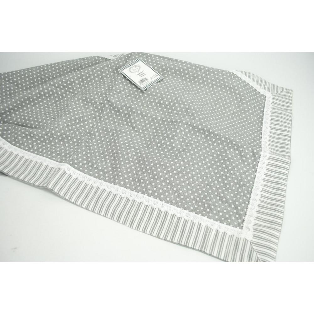 Corredor, Tira de mesa centro de mesa, gris de lunares, 45x150 ...