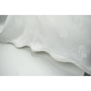 Tovaglia Rettangolare x12 Bianca Fiandra Grappoli 170x260 + 12 tovaglioli  - rif. Fettuccia