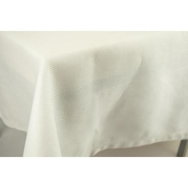 Tovaglia Rettangolare x12 Bianco Panna Spina Rinfranto MistoLino 170x260 rif. Orlo a Giorno senza tovaglioli