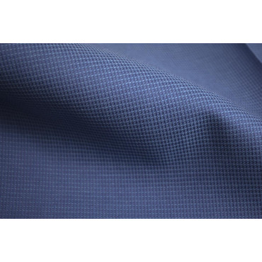 7090 Lenzuola Matrimoniali KingSize Bluette Goffrato Quadretti 270x290 sotto piano -  Camera da Letto