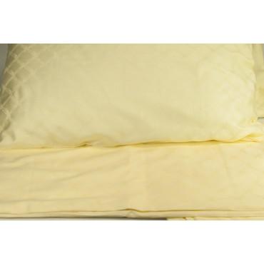 Copripiumino Matrimoniale Giallo Pallido Raso di Cotone Nodo d'Amore 255x240 +2 Federe Sacco 7020