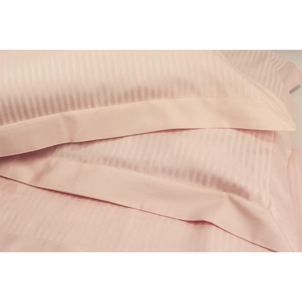 Sábanas de cama Doble de Tamaño de Luz de color Rosa de Satén de ...