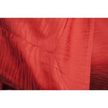 Copripiumino Matrimoniale Rosso Raso Cotone Jaquard Zebra 250x250 +2 Federe 7005