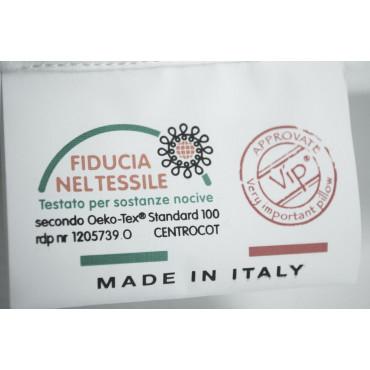 Cuscino Guanciale Vera Piuma d'Oca 50x80 Made in Italy