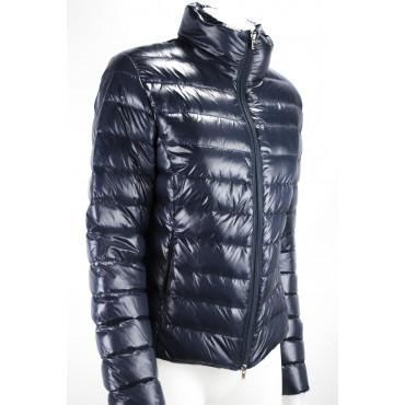Giacca Piumino Leggero Donna 40 XS Blu Scuro Lightweight Down Jacket VLab