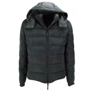 Jacket Down Jacket Man 50 L Anthracite Black - Montereggi