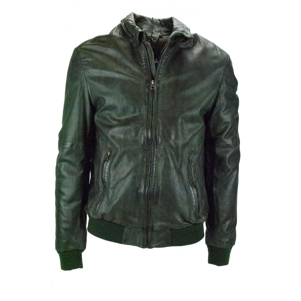 Verde Pelle 50 Vintage Giacca Effetto Bomber Uomo L Hhdxqzr Impervela 1Zqgp 4a04e0ddc6b