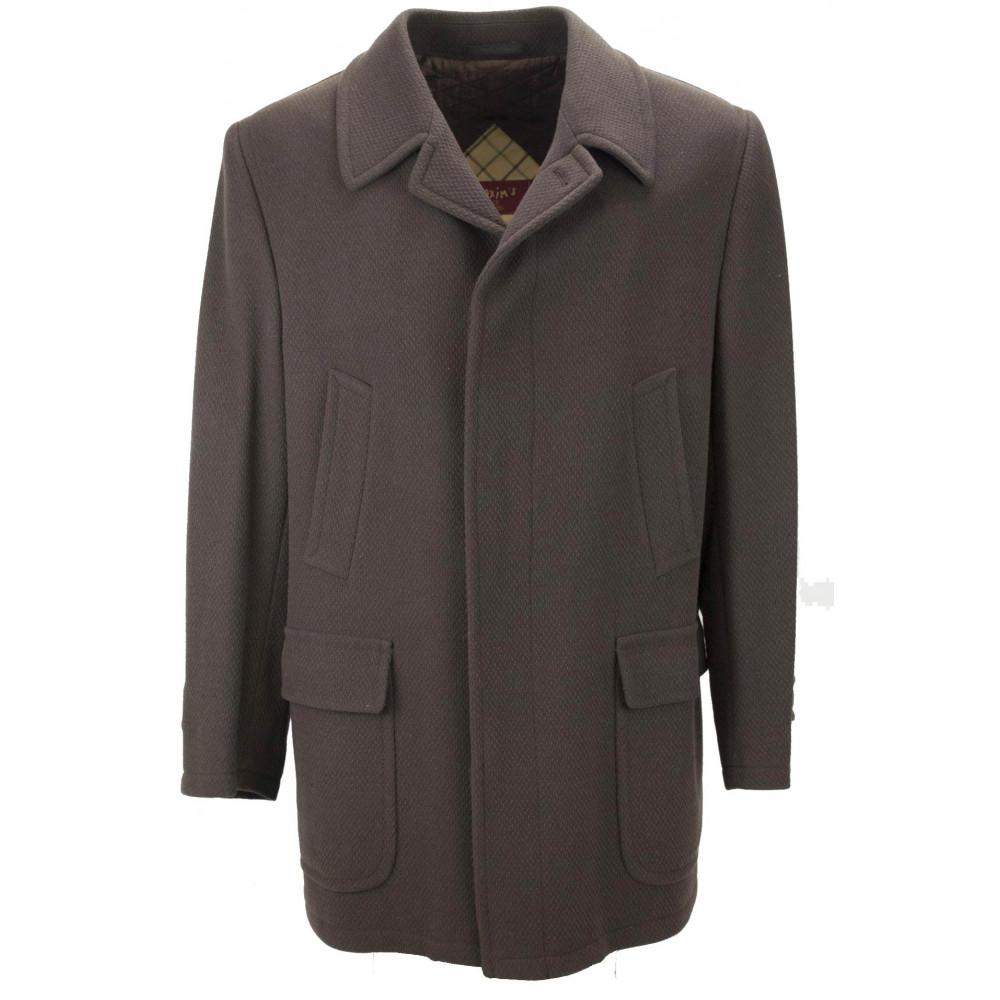Giacca uomo monopetto elegante slim pura lana marzotto rever impunturato sartoriale effetto piquet tasche a filo sabbia