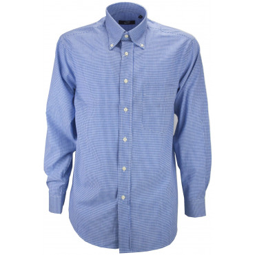 Man Shirt Classic Heavenly Squares Vichy Poplin - Button-Down - Grino