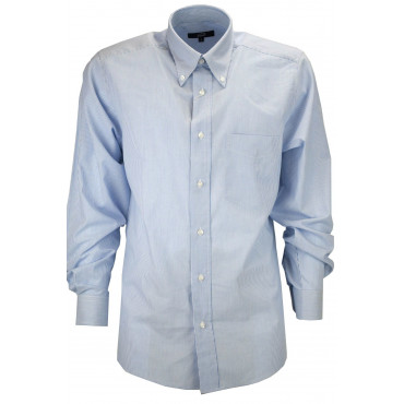 Man Shirt Classic Heavenly Thousand Stripes Poplin - Button-Down - Grino