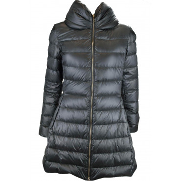 Cappotto Piumino Leggero Donna 44 M Nero Lightweight Down Jacket VLab