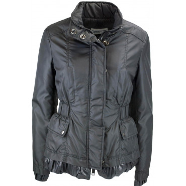 Jacket Quilted Jacket Ladies 44 M Matte Black - Montereggi