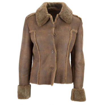 Jacket ladies Vest 42 S Fur and Skin of the Sheep - Montereggi
