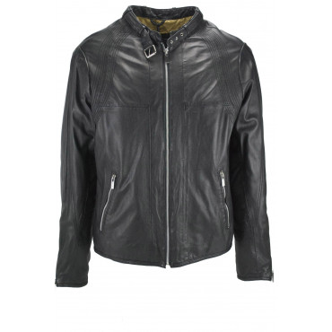 Jacket Soft Leather Man 50 L Black - Impervela