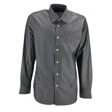 Camicia Uomo Grigio Scuro 43 Collo Francese - vestibilità slimfit