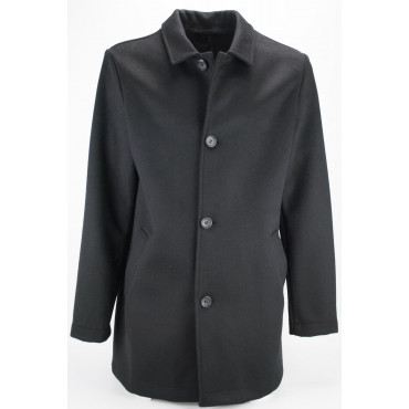 Coat Men 48 M Wool Blend Deconstructed Black - Montereggi