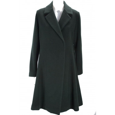 The Long Coat Woman 46 L Cloth Green Wool Montereggi