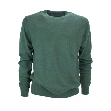 Crewneck shirt Man Pure Cashmere 2Fili - Space Five