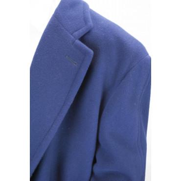 ... Cappotto Lungo Uomo 48 M Blu Navy Panno Lana 3Bottoni - Fendi ... fa62c513e22