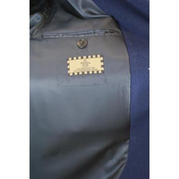 Lana Fendi 3bottoni Blu Cappotto Uomo Panno 48 Vintage M Lungo Navy  4zR4HOUwqr 16a881db3c7