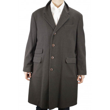Coat 3/4 Man 48 M Brown Cloth, Mixed Wool Cashmere Loro Piana - Reiss