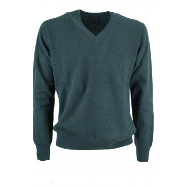 Mesh V Neckline Man's Pure Cashmere 2Fili - Space Five