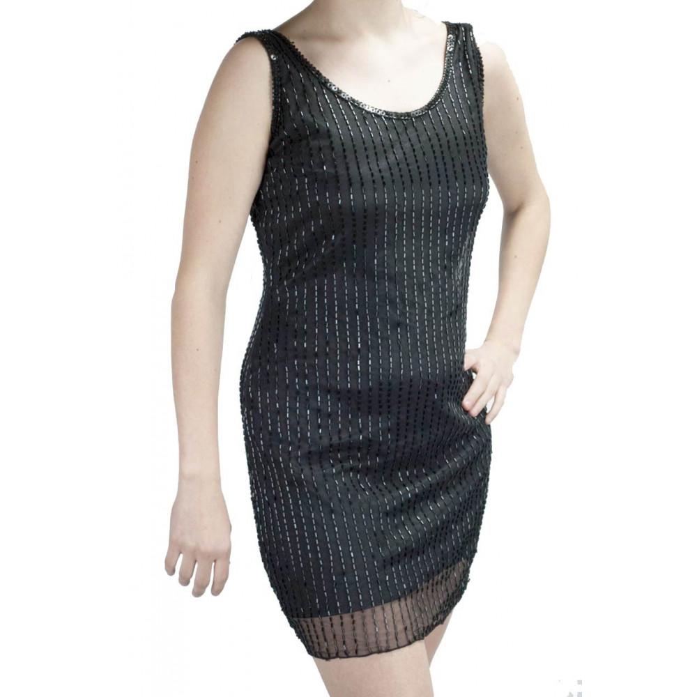 Abito Mini Tubino Donna Elegante M Nero - Pioggia di tubini