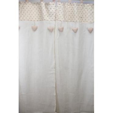 Tenda Orlo a Giorno 100% Puro Lino Bianco 170x270 9600