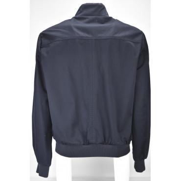 Giubbotto Cotone Uomo Blu Scuro Bomber Jacket