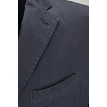 Giacca Casual Slimfit Uomo Blu Scuro Cotone