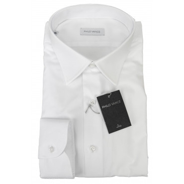Man shirt Formal White Tintaunita neck French - Philo Vance - the Azores