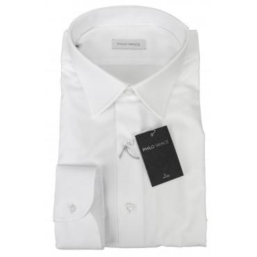 Camicia Uomo Formale Bianco Tintaunita collo Francese - Philo Vance - Azzorre