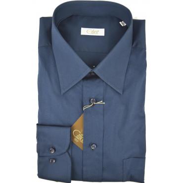 Camicia Uomo 17½ 44 Blu Navy Collo Italia Popeline - Cassera