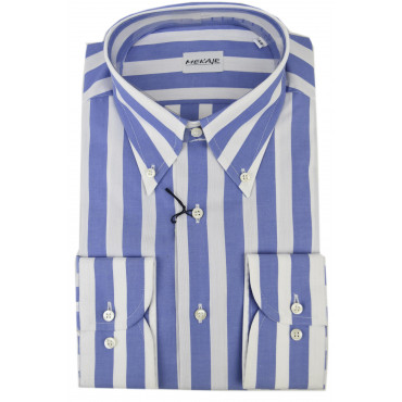 CASSERA Shirt 16½ 42 Lignes Céleste Blanc Oxford Button-Down