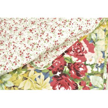 Couette couvre-lit Matelassé Lit Rose Floral 260x260 - Boutis rembourrage pour améliorer l'Été
