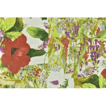 Couette couvre-lit Matelassé Lit de Jardin de Fleur 260x260 - Boutis rembourrage pour améliorer l'Été