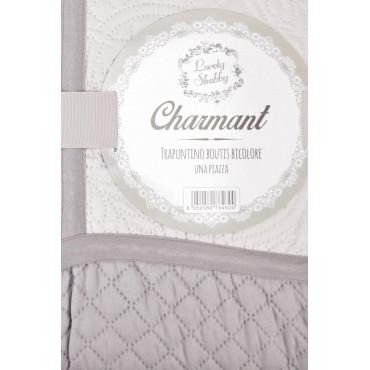 Couette Couvre-Lit Simple Matelassé Bicolore Rose Lilas Charmant