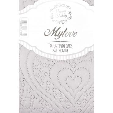Quilt Copriletto Trapuntato Matrimoniale Bicolore  - Mylove