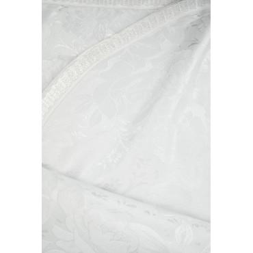 Couvre-lit Simple Blanc en Soie Rose 160x280