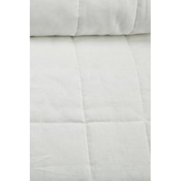 Couvre-lit matelassé Double Blanc Pur Lin Tintaunita 260x290