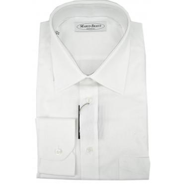 Camicia Sartoriale Uomo Bianco Tintaunita collo Francese